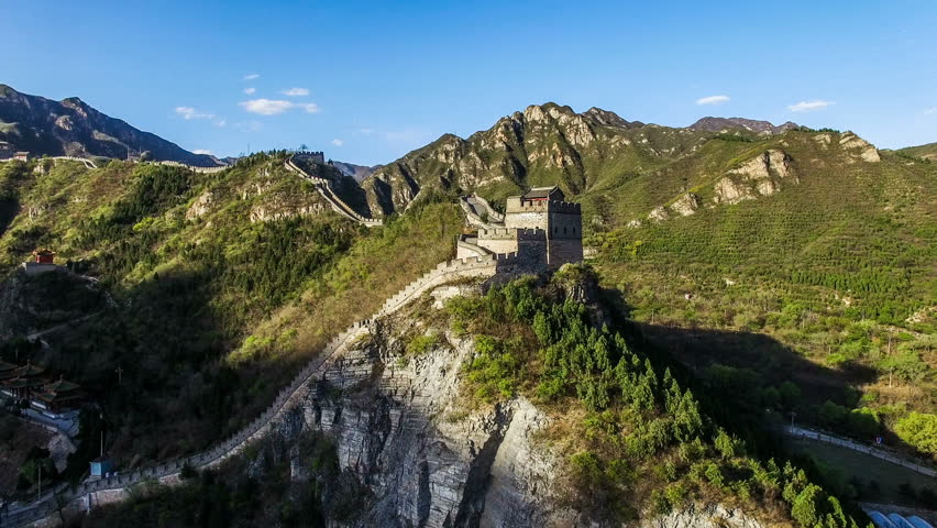 The fabulous scene of the Juyongguan Great Wall view from the sky