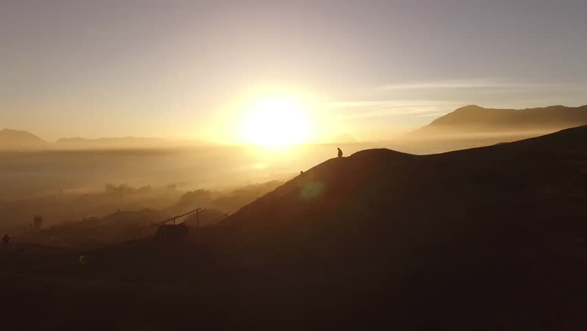 Aerial Bromo Sunrise | Shutterstock HD Video #27550810
