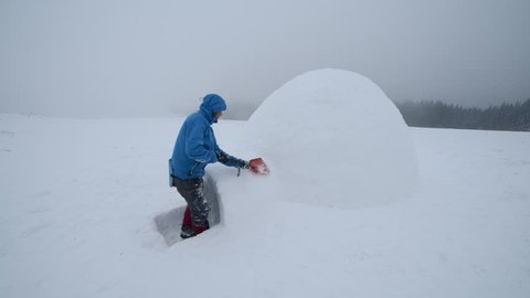 Igloo building in the high mountain.