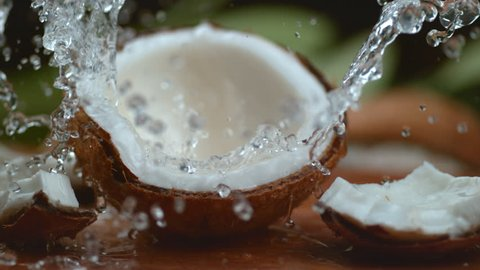 Coconut water splashing in super slow motion, shot with Phantom Flex 4K
