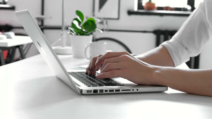 Close up of man hands typing on a laptop keyboard 20s 4k | Shutterstock HD Video #27610330