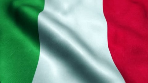 Flag of Italy Beautiful 3d animation of The Italy flag in loop mode