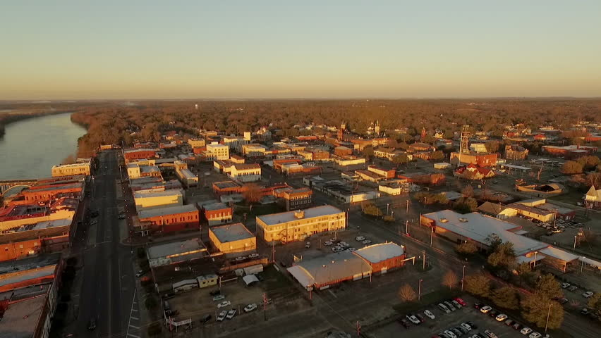Edmund Pettus Bridge   Selma, Alabama - Aerial Drone (Evening Pan 2)