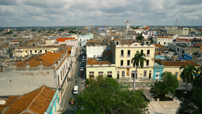 Cuba - Camaguey, Aerial view | Shutterstock HD Video #27746500