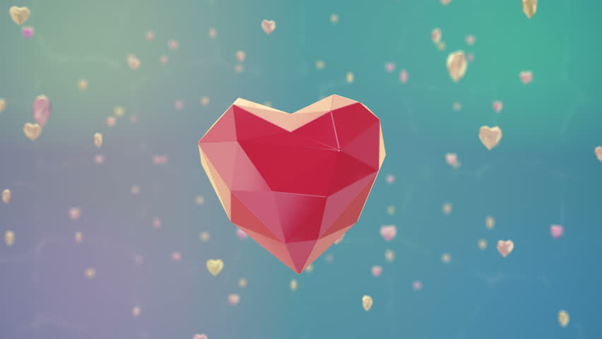 Floating Low Poly Heart with Stock Footage Video (100% Royalty-free)  27756880 | Shutterstock