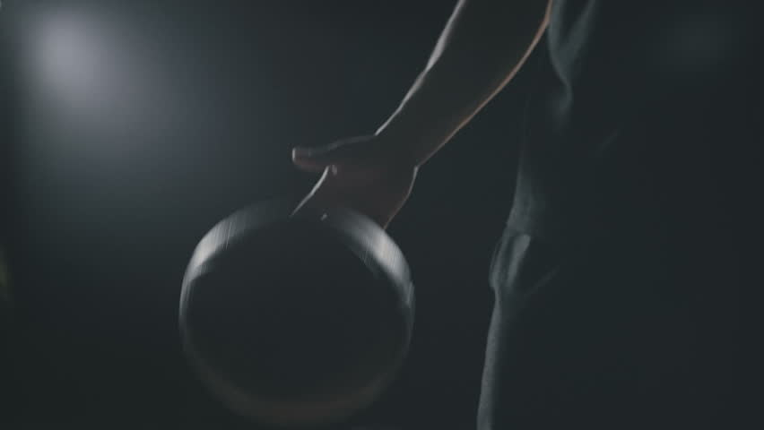Young basketball player warm up before the game, slowmotion | Shutterstock HD Video #27760810