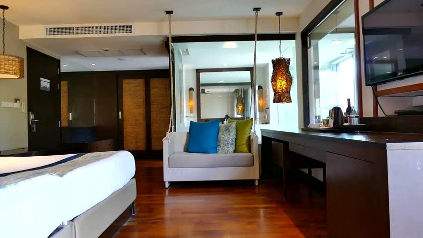 Decoration In Bedroom Interior   HD Stock Video Clip