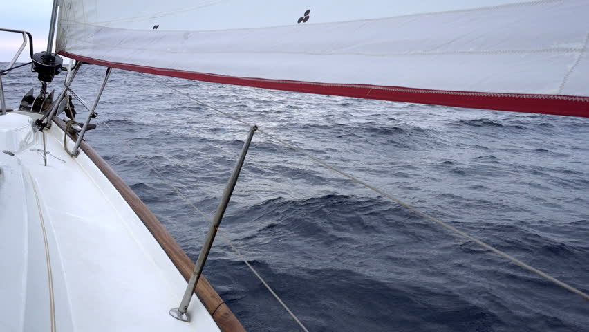 Yacht sailing over sea surface | Shutterstock HD Video #27831640