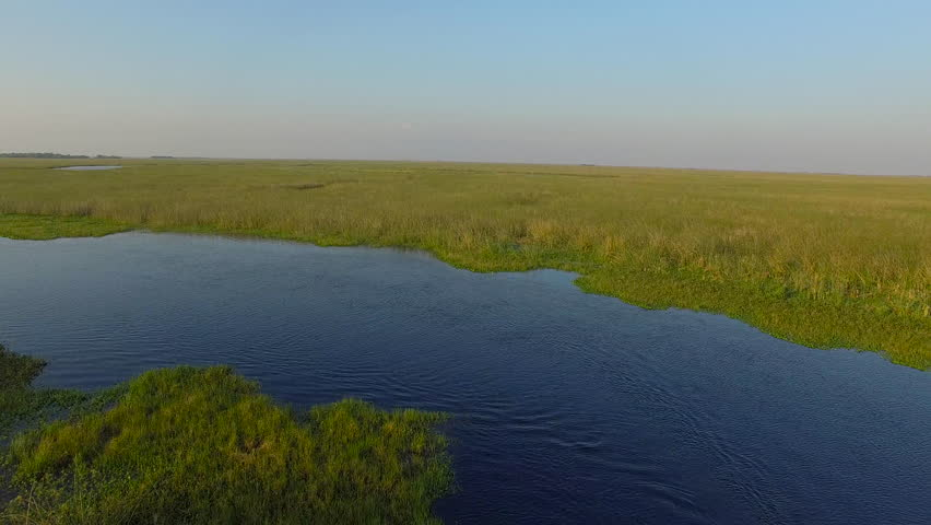Aerial view of Ibera Wetlands, Corrientes Province, Argentina