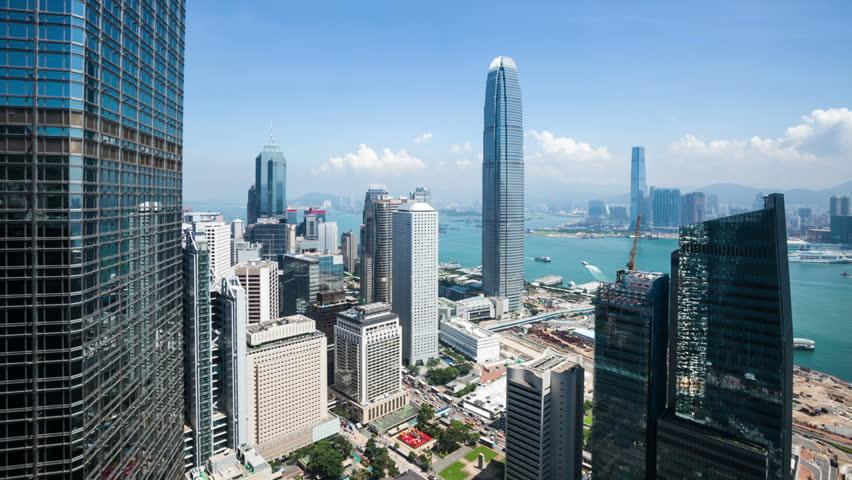 modern city ,hongkong,time lapse