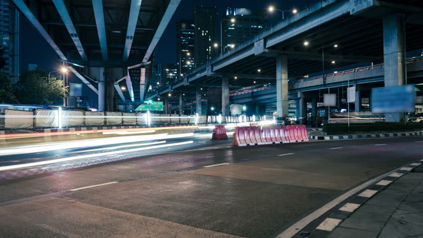 Time Lapse Traffic in the city on the road bangkok,Thailand | Shutterstock HD Video #27881200