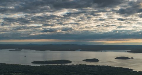 Acadia National Park landscape viewed from the Cadillac Mountain Note to editor: