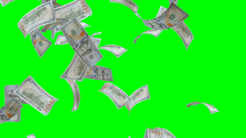One Hundred Dollars Bill Falling on Green Screen | Shutterstock HD Video #27891610