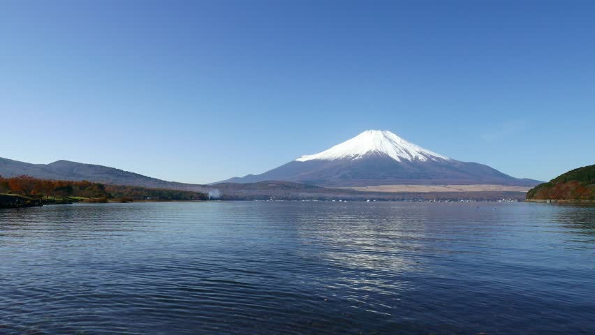 Mountain Fuji and lake in Japan | Shutterstock HD Video #27900610