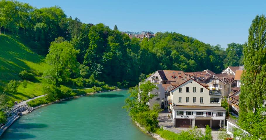 Switzerland June 11 2017 Beautiful Views Of The City Bern Aare