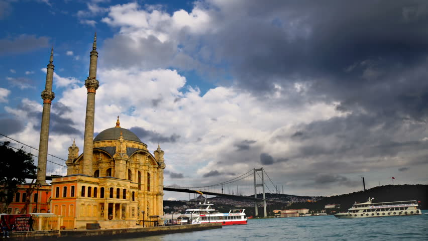 Istanbul Bosporus and Ortakoy Mosque