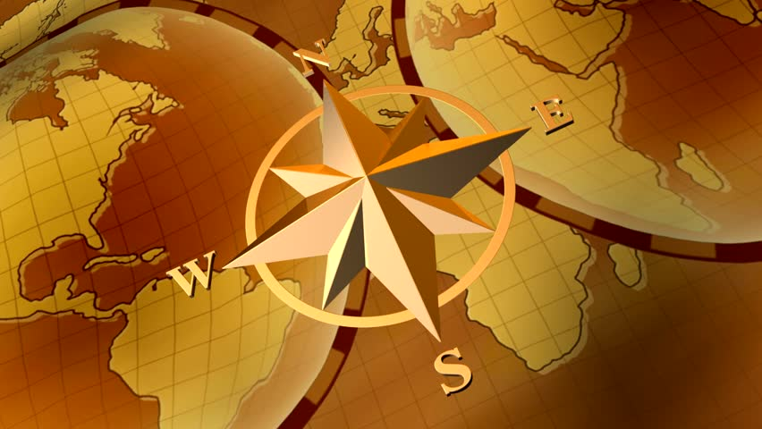 Compass Rose On Background Of Stock Footage Video 100 Royalty Free