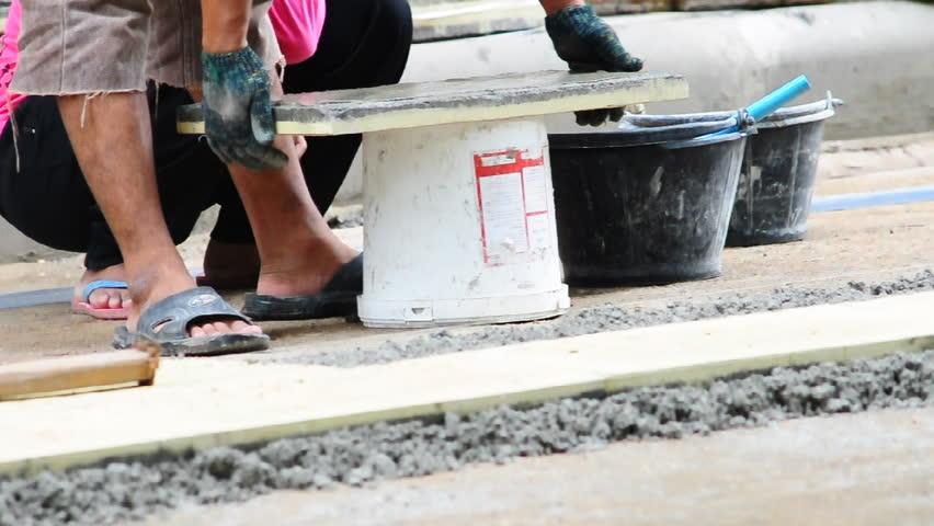 Floor tile installation | Shutterstock HD Video #2794150