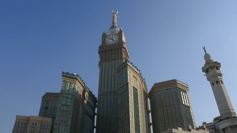 On rooftop of Masjid al-Haram (Great Mosque of Mecca) - Makkah Royal Clock Tower Hotel