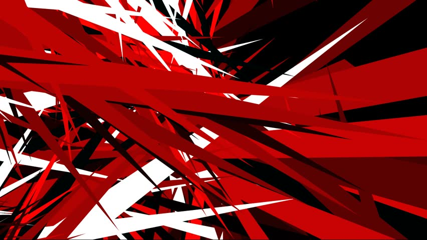 Motion Dynamic Triangle Background Red Stock Footage Video 100