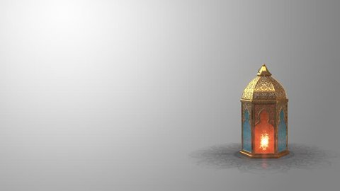 3D Animation.  Ramadan candle lantern slow speed rotating loop animation (24 sec) Buy it now and start using this quality video in your design.