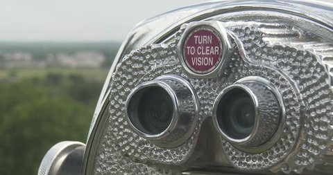 Coin Operated Binoculars - Close Up Of Eye Piece