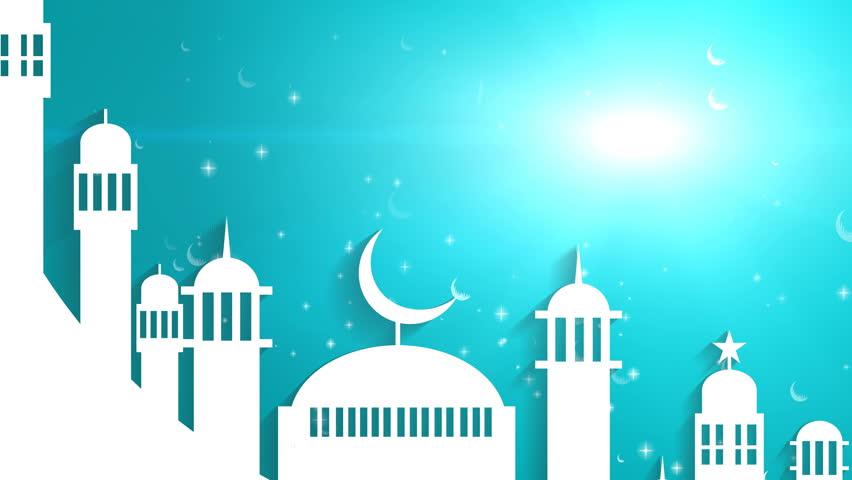 islamic ramadan in white moon stock footage video 100