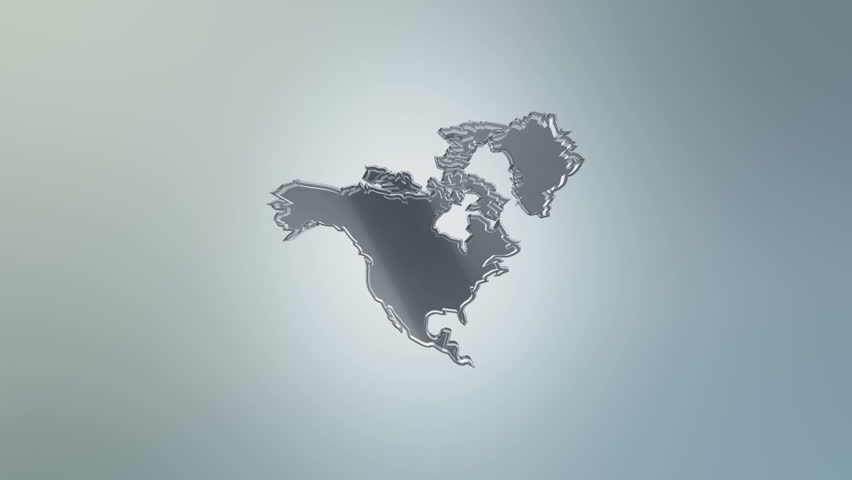 North America On Fire 4K Animation The