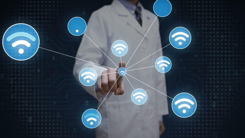 Scientist, engineer touch screen, Wireless technology icon connect global world map, dot makes global communication. social media network | Shutterstock HD Video #28165720