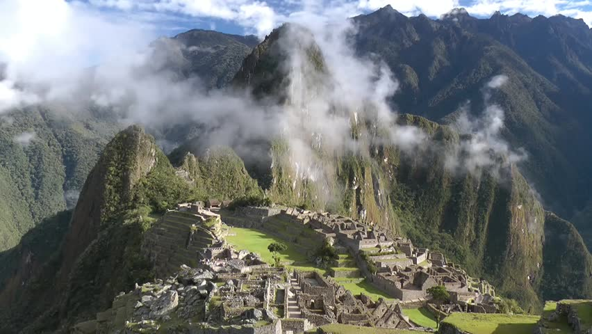 Machu Picchu ancient city of the inca, near Cuzco, andes mountains, South America