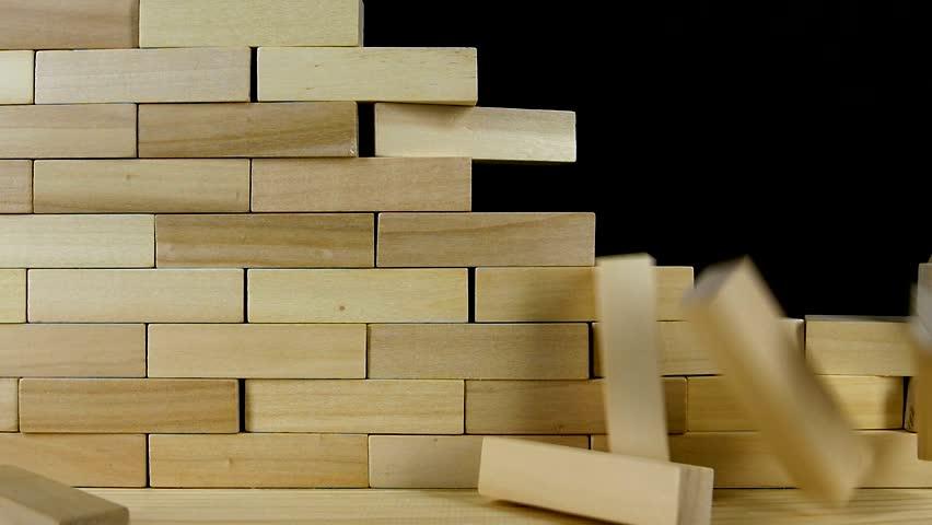Wall of Wooden Bricks Breaks Stock Footage Video (100% Royalty-free)  28235560 | Shutterstock