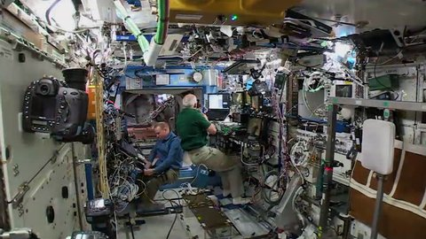 2010s: Weightlessness and astronauts inside the International Space Station.