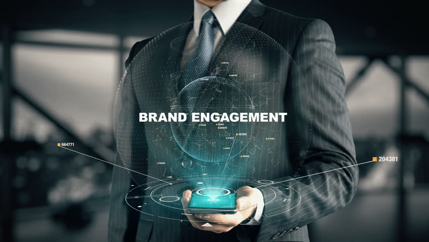Businessman with Brand Engagement hologram concept | Shutterstock HD Video #28336540