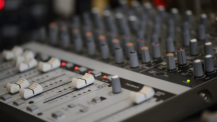 Working with Analogic Sound Mixer  Stock Footage Video (100% Royalty-free)  28373050 | Shutterstock