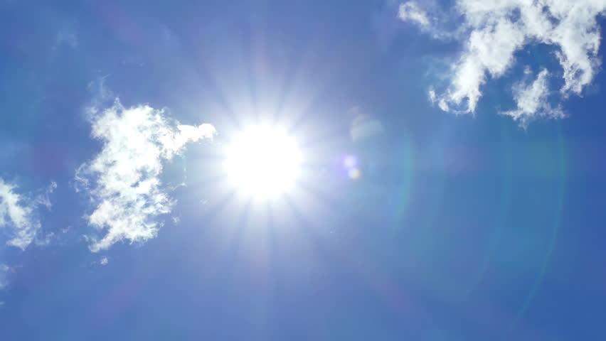 Heavenly Blue Sky Clouds Angel Light - Royalty Free Video-6007