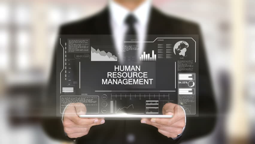 Human resource management, Hologram Futuristic Interface, Augmented Virtual | Shutterstock HD Video #28457980