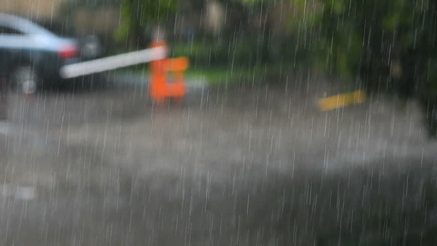 Concept climate change: Heavy rain in summer