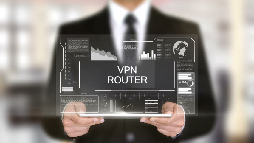 VPN Router, Hologram Futuristic Interface Concept, Augmented Virtual Reality | Shutterstock HD Video #28487320