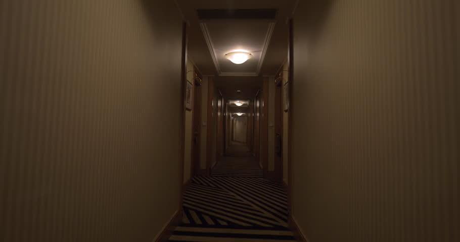 Apartment Building Hallway Carpet old dark creepy apartment building,long hallway, gimbal tracking