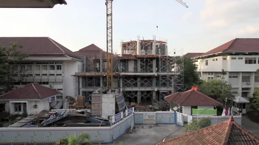 Building Construction Gadjah Mada Uninversity, Economic Faculty. Yogyakarta. Circa May Until April 2011.
