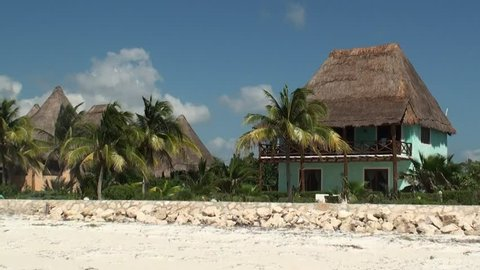 Hotel on the beach of Isla Holbox in Mexico
