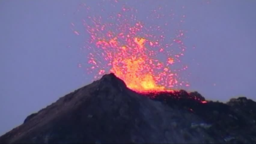 Volcano in action volcanic eruption in slow motion