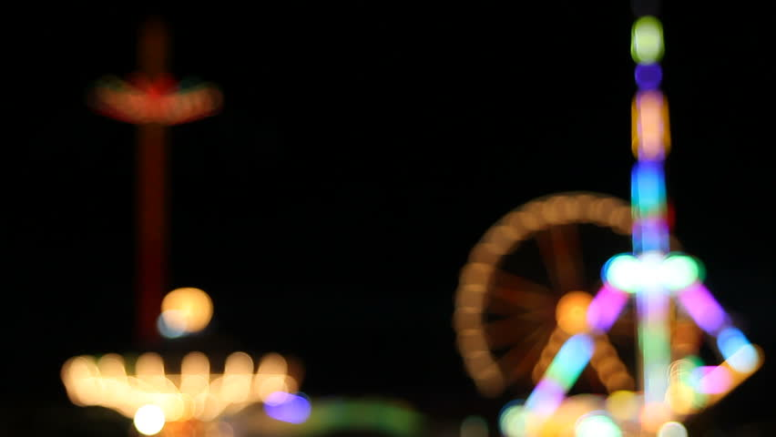 defocused lights at fair