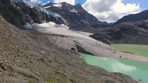 Melting glaciers in the Alps