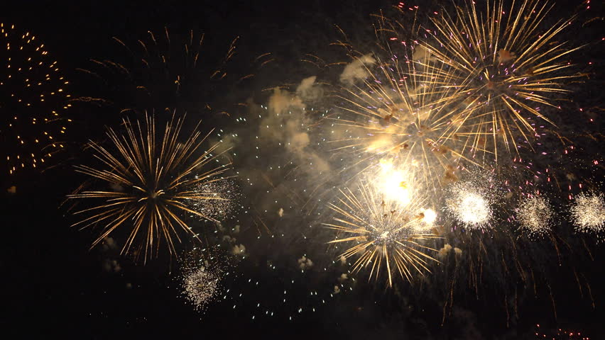 The fireworks in the night sky | Shutterstock HD Video #28668250