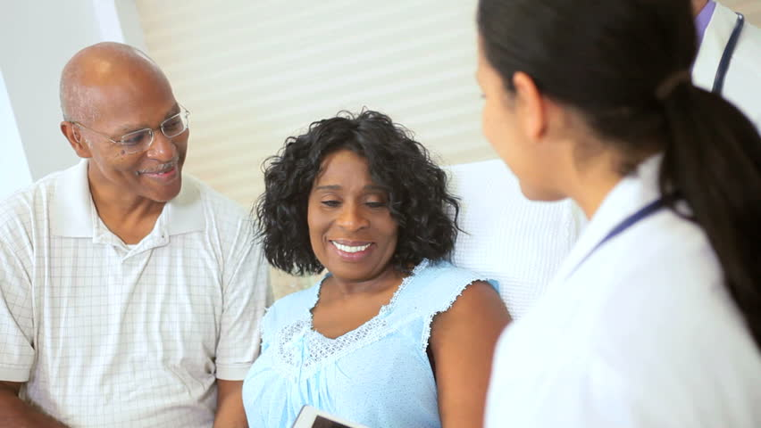 Stock Video Of Hispanic Nurse Showing Mature Ethnic Female  2870020  Shutterstock-2583