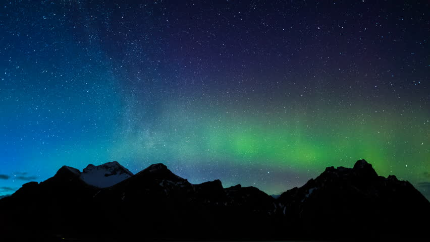 4K Time lapse of aurora borealis at Mt.vestrahorn, Iceland | Shutterstock HD Video #28706050
