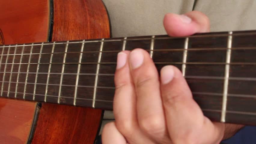 Playing Guitar Close Up 2