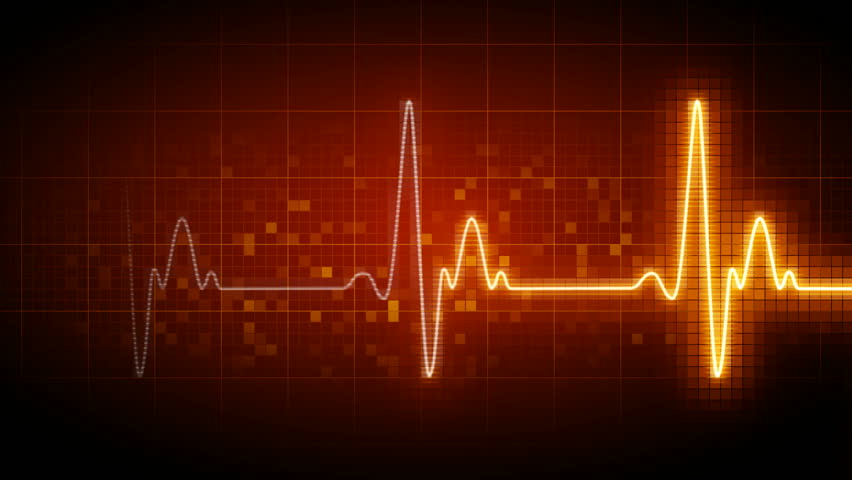 Seamlessly looping heart monitor.