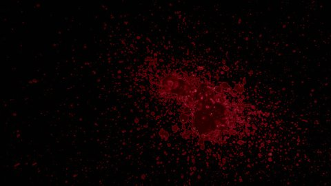Organic Splattered Blood Element with alpha channel for any compositing software: ready for your VFX shot, title sequence, or that Halloween montage, crime scenes, and horror films.